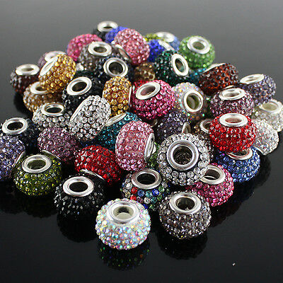 WHOLESALE LOTS NEW AUSTRIAN CRYSTAL SILVER FINDINGS EUROPEAN LOOSE CHARMS BEADS