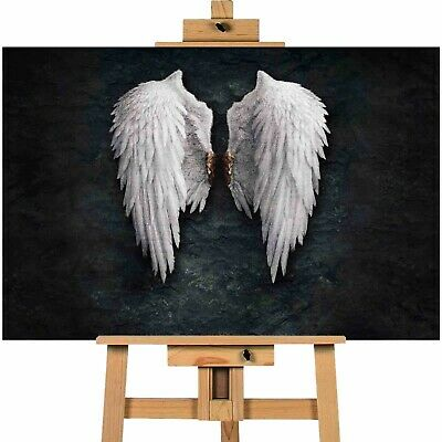 ANGEL WINGS-Banksy Canvas Art Wall Print A1 Size