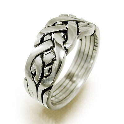 (YURIY) Unique Puzzle Rings - Sterling Silver - Any Size