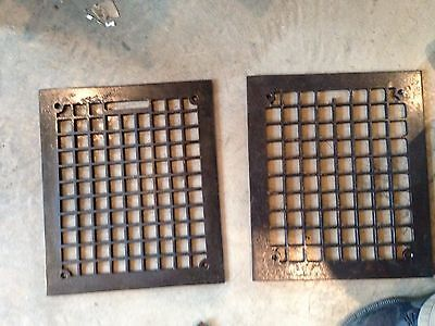 Gr 29 Two Available Square Design Faceplate Heating Grate Antique12 X14
