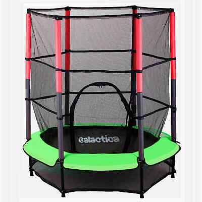 WestWood Children's Mini Trampoline With Safety Net – 4.5FT Kids Rebounder Green