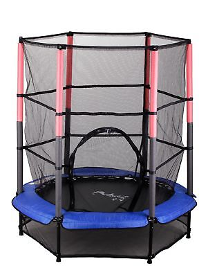 "FoxHunter 55"" 4.5FT Junior Trampoline With Enclosure Safety Net Kids Child Blue"