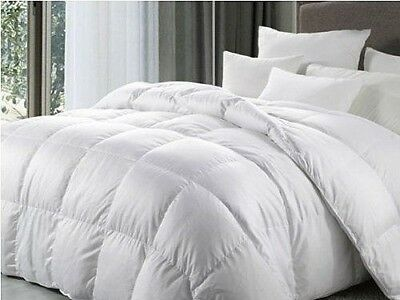 Goose Feather & Down Duvet Quilt All Sizes 4 Tog Ratings Warm Cosy Winter Summer