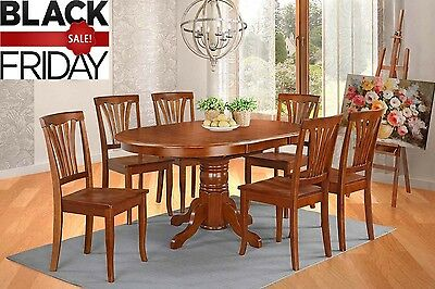 Cherryville 5 Piece Oval Dining Set, 100% Hardwood - Saddle Brown