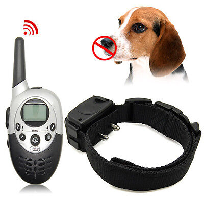 1000 Yard LCD Remote Rechargeable Waterproof Electric Shock Dog Training Collar