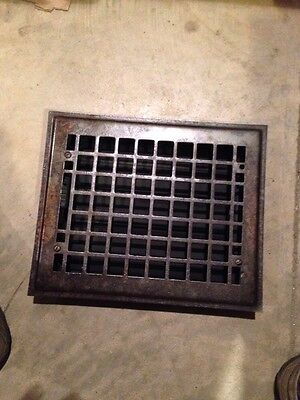 Gr 52 Antique Sheet-Metal Heating Grate 8 X 10
