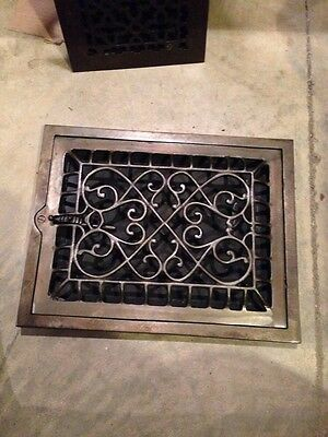 "Gr 59 Antique Vertical Floor To Wall Heating Great 11"" X 14"""