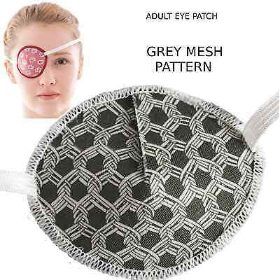 Medical Eye Patch, GREY MESH, Soft & Washable, Sold to the NHS