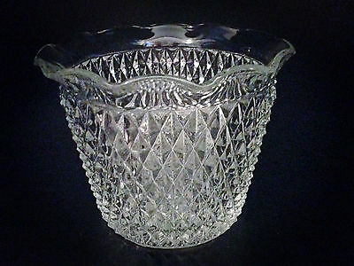"""Vintage Unusual Style Fluted Pressed Glass Bowl - 7"""""""