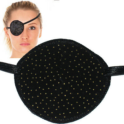 Medical Eye Patch, BLACK WITH GOLD SPECKLES, Soft & Washable, Sold to the NHS