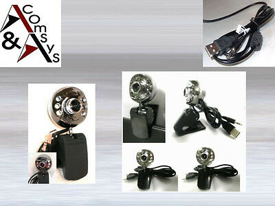 Web Cam Camera Kamera Webcam 6LED + Mikrofon + Clip 20MPixel Laptop PC MSN Skype