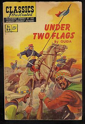 Classics Illustrated #86 G  Hrn167 (Under Two Flags) Ouida