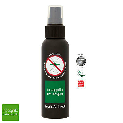 Incognito Natural Anti-Mosquito Insect (DEET FREE) Repellent Spray - 100ml