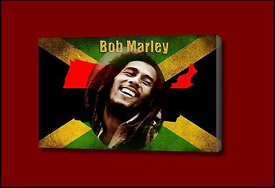 bob marley and the flag_Framed Picture Canvas Any Size