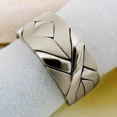 (SOLIDER MATTE) Unique Puzzle Rings - Sterling Silver - Any Size