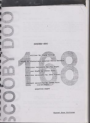 Scooby Doo Movie Script #168 with Alterations