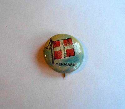 Cool Vintage Sheffield Sealect A Dairy Denmark Flag Advertising Pinback