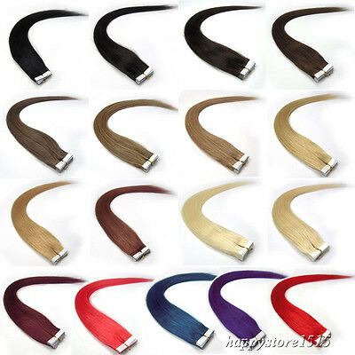 100% Remy Brazilian Human Hair Extension Super 3M Tape in Hair 20Pcs 16-24Inch