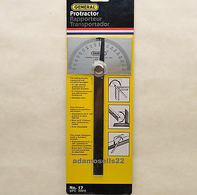 Stainless Steel Protractor Angle Scribe Transfer Layout Mark Bevel Gauge Measure