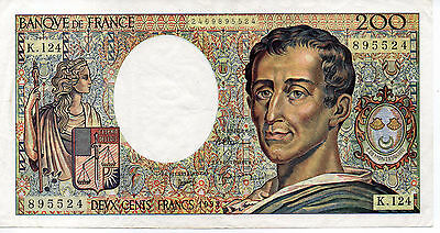 1992 200 Francs France Banknote - VF - Pick 155d