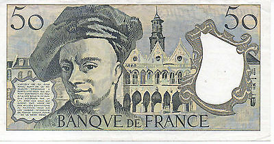 1985 50 Francs France Banknote - EF - Pick 152b