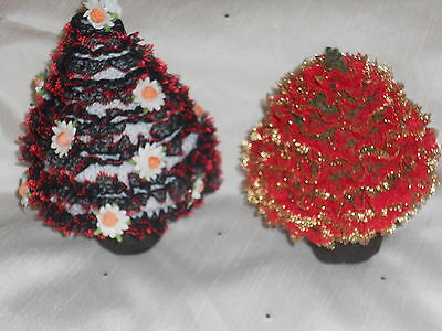 KNITTING IN LACE XMAS TREES
