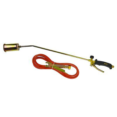 Butane Propane Gas Torch Burner 2m Hose Regulator Roofer Plumber Weed Kit TE457