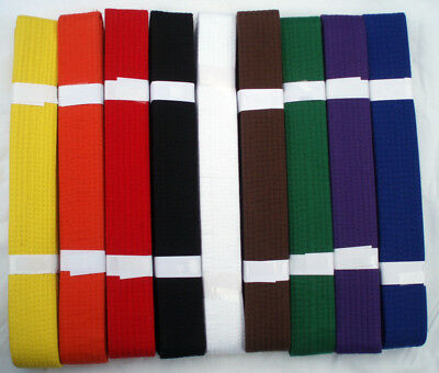 BELTS - Karate TaeKwondo - Black White Yellow Green Blue Red Brown Purple Orange