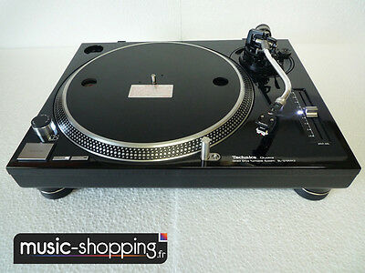 Technics Sl 1210 Mk2 Custom : Noir Brillant, Leds Blanches