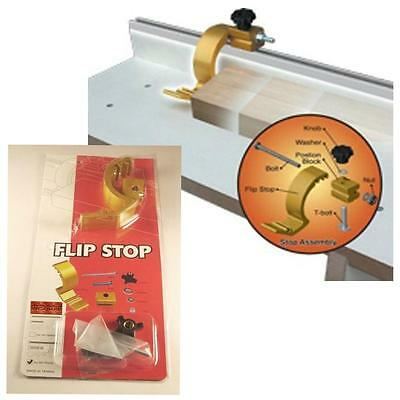 """Flip Stop - 1/4"""" For Mini / Small T-Track T-Slot , Saw Miter Fence Stop"""