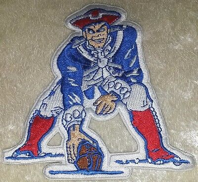 "New England Patriots Pat Mascot 4"" Iron On Embroidered Patch ~USA FREE Ship!"