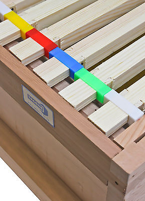 100 narrow plastic ends, five colours available, frame spacing, beehive