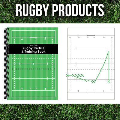 3 x A4 RUGBY Coaches Notepads Essential Tactics Coaching Training Books