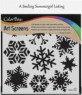 Snowflake Layering Stencil Art Screen for Paper Crafts, Home Decor and More!