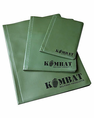 Kombat Army Combat A4 A5 A6 Nirex Note Order Book Map Holder Binder Folder Cover