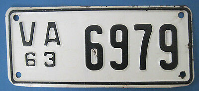 1963 Virginia Motorcycle License Plate new never used