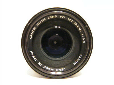 Canon FD 100-200mm F/5.6 Zoom Lens for A-1 AE-1 T-90 T-70, F-1, AT-1 Clean Lens