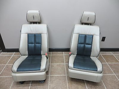 08 Lincoln Navigator Front Seats Tan Power Track Bucket Seat Leather