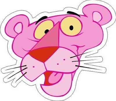 "Pink Panther (Face) Sticker - 3.5"" x 4"""