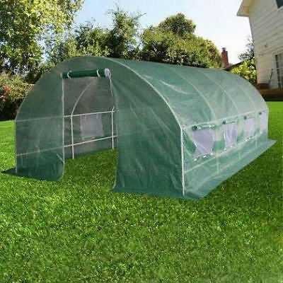 Peaktop 6 x 3m Polytunnel Greenhouse Poly Tunnel Pollytunnel Frame Green House