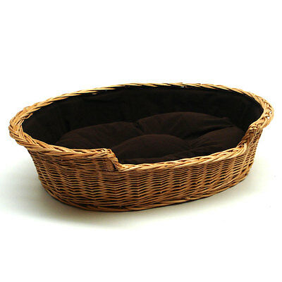 Medium Large II Dog Bed Basket with Cushion 75cm FREE DELIVERY