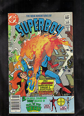 New Adventures Of Superboy #30 Vg+ (Glowman) 1982 Dc
