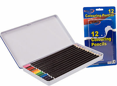 12 x ARTIST COLOURING PENCILS ART ARTIST DRAWING COLOUR COLOURED PENCILS