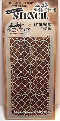Latticework Design Layering Stencil - Stampers Anonymous Tim Holtz Collection