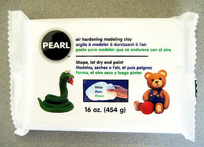 Pearl - Paperclay air hardening modeling clay 16 oz Shape, let dry and paint