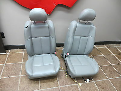 07 08 Nissan Maxima Front Seats Bucket Grey Leather 2008 Oem Power Street Rod