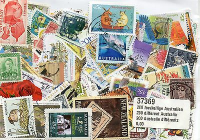 Timbres Oceanie / Australie : 100 Timbres Tous Differents /  Stamps Australia