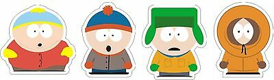 South Park Kenny, Kyle, Stan & Cartman (4) Stickers