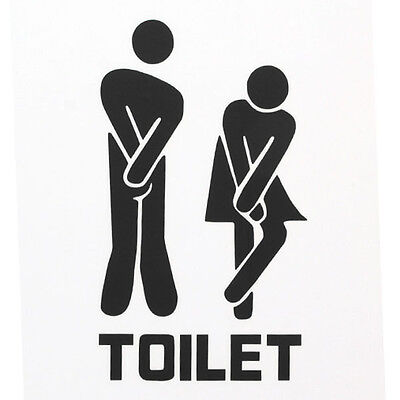 Interesting Removable Home Bathroom Toilet Entrance Sign Wall Decals Sticker