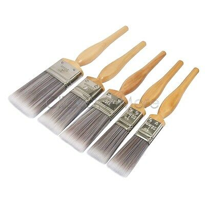 5 x Home Decor Synthetic Painting Brushes Set 2x25mm, 2x38mm, 1x50mm SALE MX